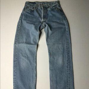 Vintage Levi 501 Jeans Button-Fly High Waist USA
